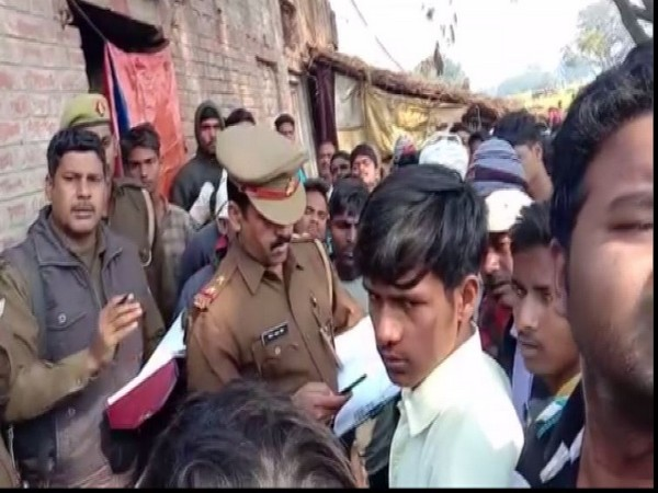 Police investigates after woman and three children found dead under mysterious circumstances in Handia on Thursday Photo/ANI