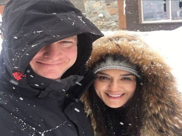 Preity Zinta with husband Gene Goodenough