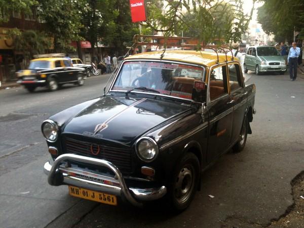 The Padmini Taxi on streets of Mumbai.