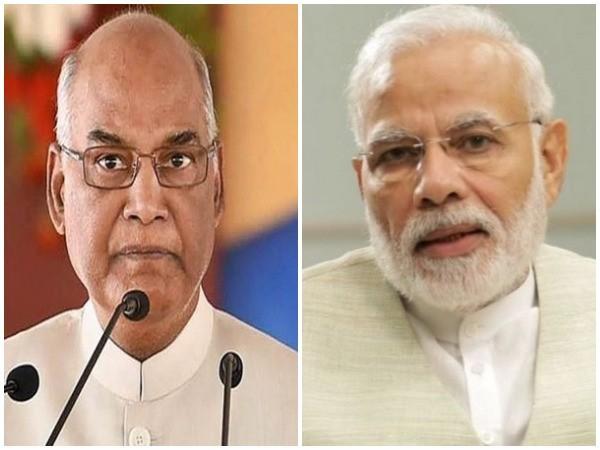 President Ram Nath Kovind, Prime Minister Narendra Modi. [Photo/ANI]
