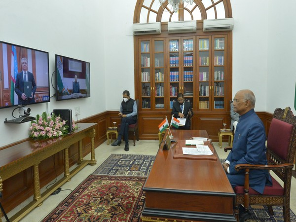 President Ram Nath Kovind accepting credentials via video conference on Wednesday.