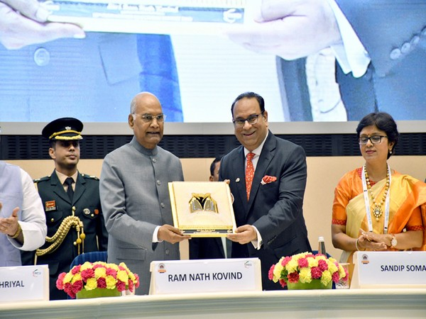 President Kovind with FICCI chief Sandip Somany in New Delhi on Wednesday