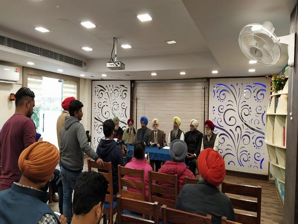 Sikh Sewak Sabha during a press conference in Chandigarh on Thursday. Photo/ANI