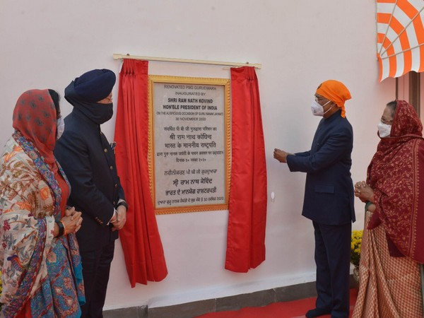 A visual of President inaugurating the PBG Gurudwara on Monday. (Pic: President's Twitter)