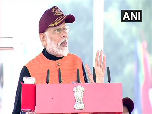 Prime Minister Narendra Modi addressing the NCC rally in Delhi on Tuesday.