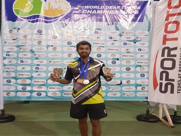 Indian deaf tennis player Prithvi Sekhar