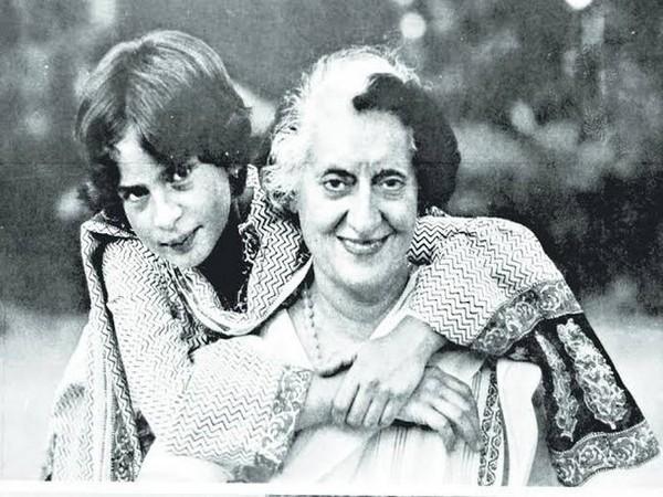Young Priyanka Gandhi with her grandmother Indira Gandhi. (Twitter/Priyanka Gandhi)