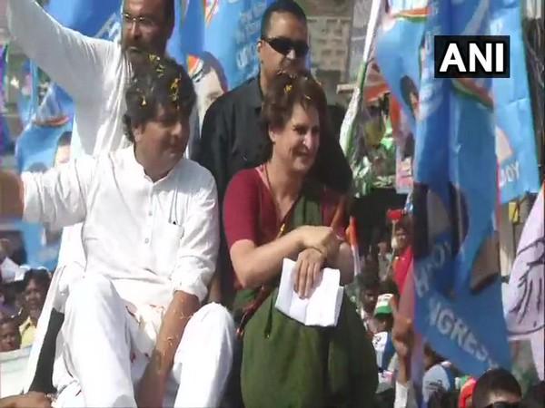 Congress leader Priyanka Gandhi Vadra during a road show in Uttar Pradesh. (File photo)