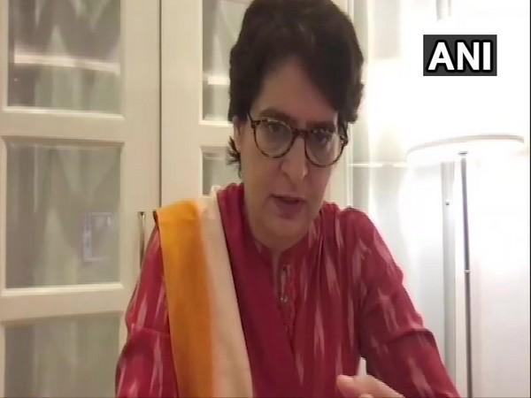 Congress leader Priyanka Gandhi Vadra [Photo/ANI]