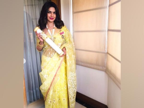 Actor Priyanka Chopra Jonas with her Padma Shri honour (Image Source: Instagram)