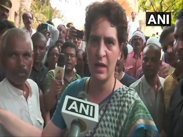 Congress general secretary Priyanka Gandhi while speaking to ANI in Mirzapur on Satrurday. (Photo/ANI)