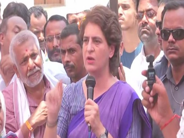 Congress leader Priyanka Gandhi Vadra campaigning in Amethi on Saturday