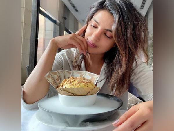 Priyanka Chopra looking at the story (Image Courtesy: Instagram