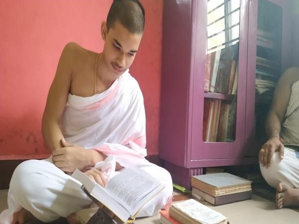 Priyavrat at his Gurukul in Panaji on Friday. Photo/ANI