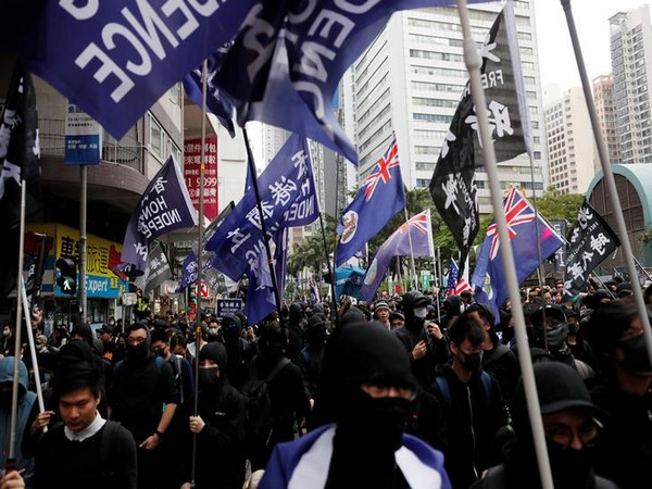 An anti-government protest in Hong Kong. (File Photo)
