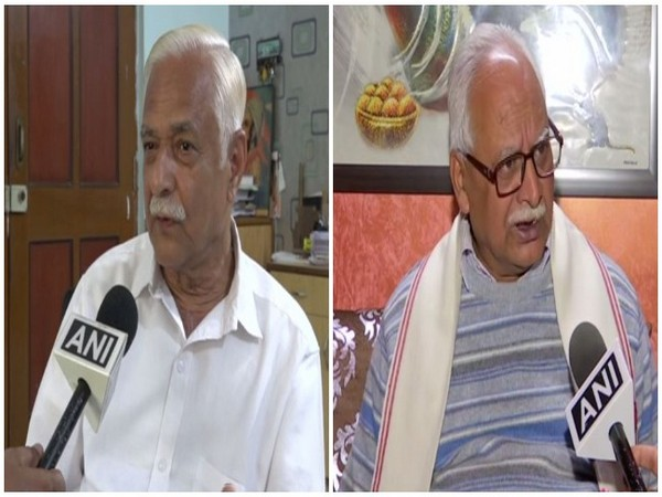Sardar Patel University (SPU) Vice Chancellor Prof Shirish Kulkarni, left, and former Himachal Pradesh University Vice Chancellor Prof Sunil Gupta, speaking to ANI on Sunday. Photo/ANI