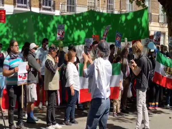 Protest were held in London against China's expansionist policies