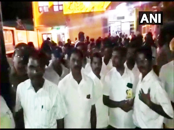 DMK workers released by police on late Wednesday night. Photo/ANI