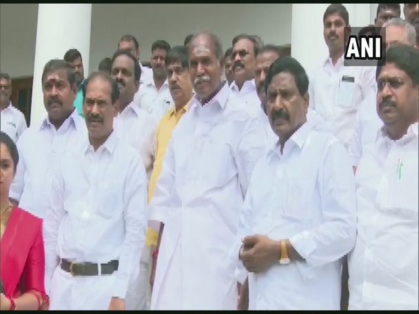 Former Chief Minister and N. Rangaswamy speaks to media in Puducherry on Tuesday [Photo/ANI]