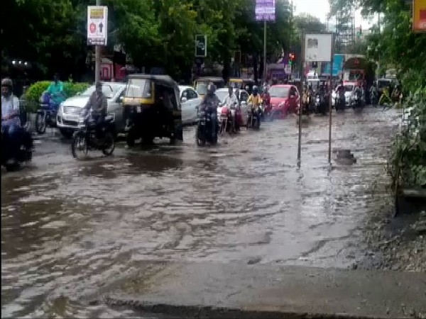 Water logging due to heavy rainfall in Pune