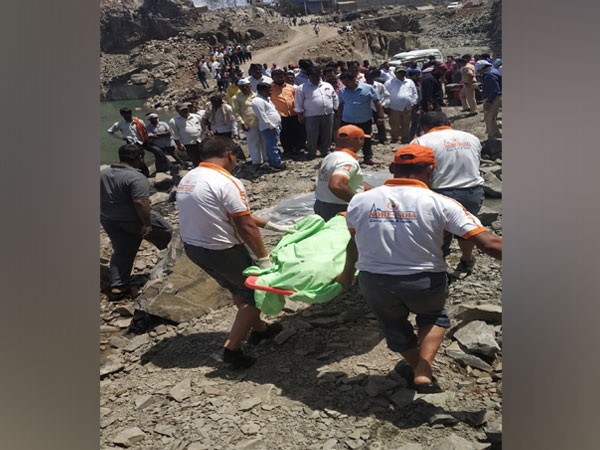 National Disaster Response Force recovers youth's body near Chakan in Pune on Saturday. Photo/ANI
