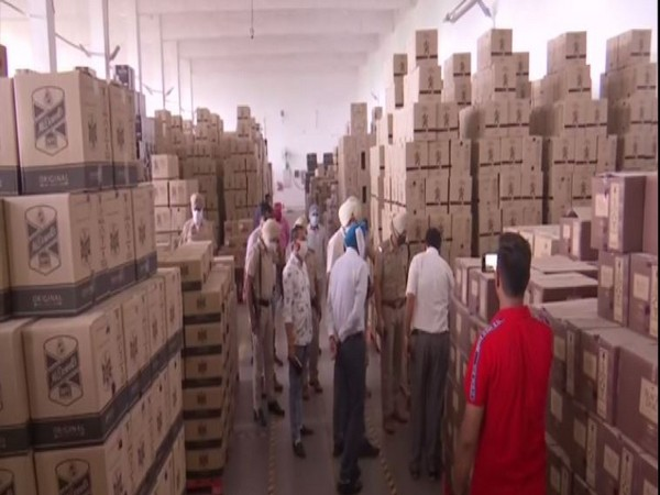 Team visited Khasa distillery company in Punjab on Monday. (Photo/ANI)