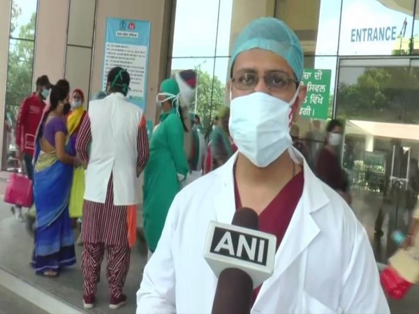 Dr Aditya of Civil Hospital in Ludhiana speaking to ANI on Tuesday. Photo/ANI