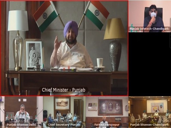 Punjab cabinet held a virtual conference to review the COVID-19 situation in the state. (Photo/ANI)
