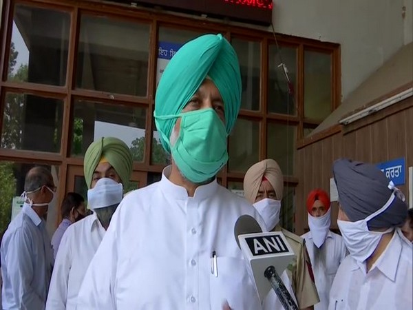Punjab Health Minister Balbir Singh Sidhu speaking to ANI. Photo/ANI