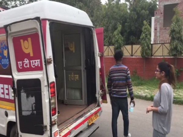ATM on Wheels facility in Chandigarh. Photo/ANI