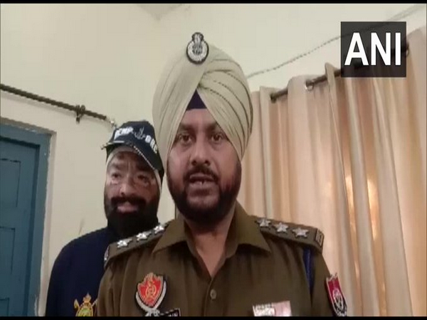 Dakha Deputy Superintendent of Police Gurbans Singh Bains speaking to reporters. [Photo/ANI]