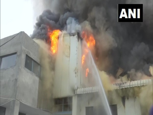 Visual of fire in Punjab's Amritsar (Photo/ANI)