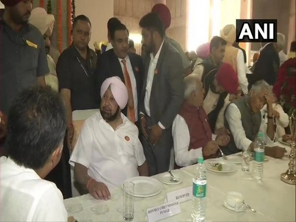 Punjab CM Amarinder Singh and other dignitaries at the Kartarpur Corridor official song release event in Chandigarh on Wednesday. Photo/ANI