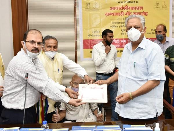 Rana KP Singh, (right) Speaker Punjab Vidhan Sabha, meeting a delegation of Jain community on Thursday.