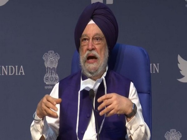 Union Civil Aviation Minister Hardeep Singh Puri during press conference in New Delhi on Saturday. Photo/ANI
