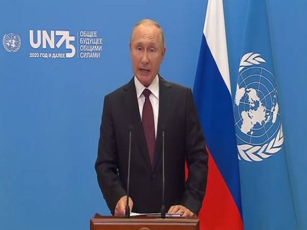 Russian President Vladimir Putin delivering his UN General Assembly address virtually. (Video grab source: Kremlin)