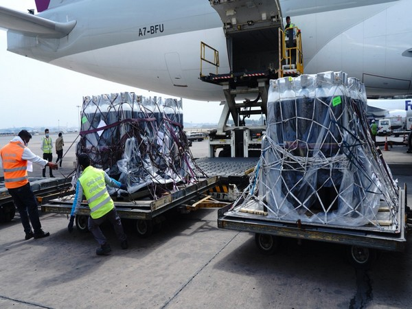 India welcomed another 1200 oxygen cylinders from the British Oxygen Company that arrived from the United Kingdom on Thursday.