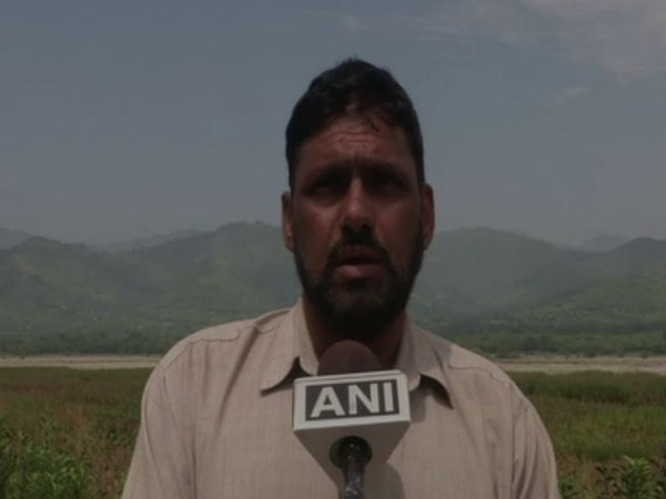 Mohammad Qasim, a local of Poonch district, speaking to ANI on Saturday. Photo/ANI