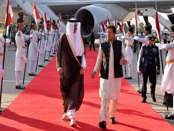 Qatar's Emir Sheikh Tamim Bin Hamad Al Thani and Pakistan Prime Minister Imran Khan. (Photo source: Pakistan govt Twitter)