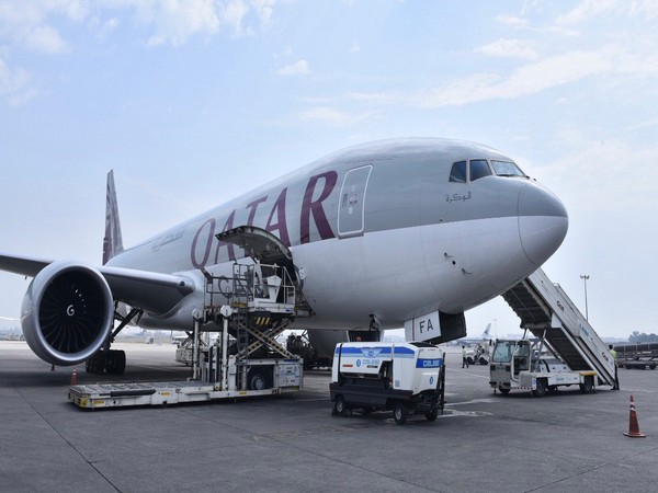 Qatar Airways facilitating British oxygen company shipment of 1350 oxygen cylinders. (Twitter/Arindam Bagchi)
