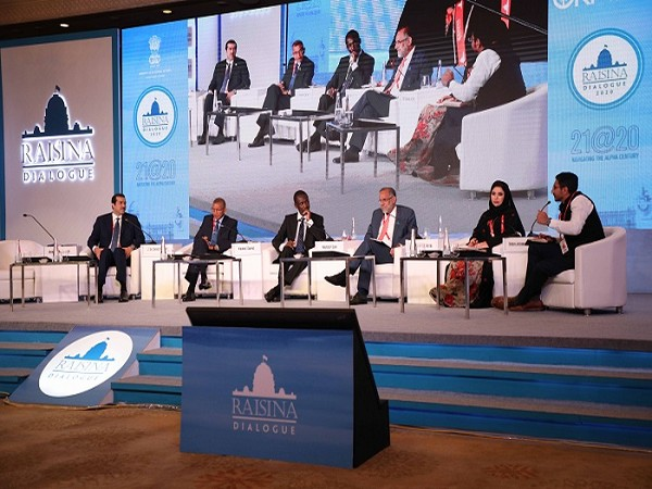 HE Ahmad Al Sayed, Minister of State and Chairman of QFZA during Raisina Dialouge forum