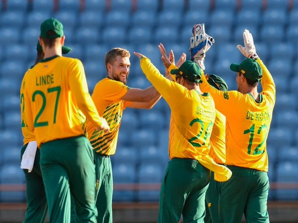 South Africa defeat West Indies in fifth and final T20I. (Photo/ ICC Twitter)