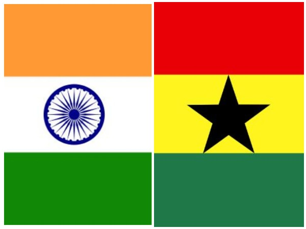 Flags of India and Ghana (File photo)