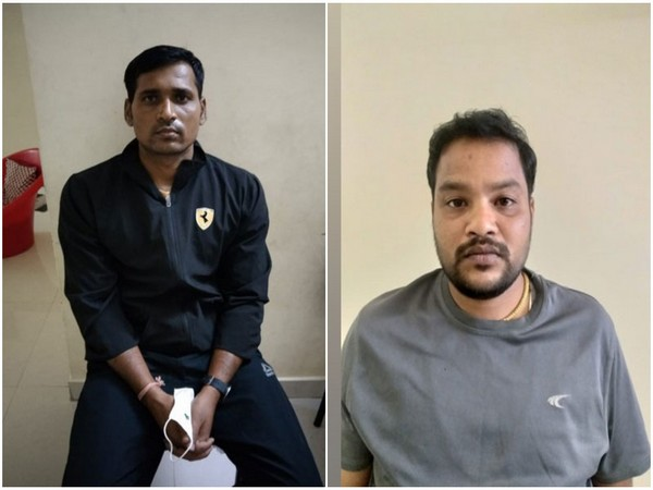 Jagadish of Kamareddy Circle Inspector, along with his aid M Sujay, have been arrested for an alleged bribery case in Telangana. [Photo/ANI]