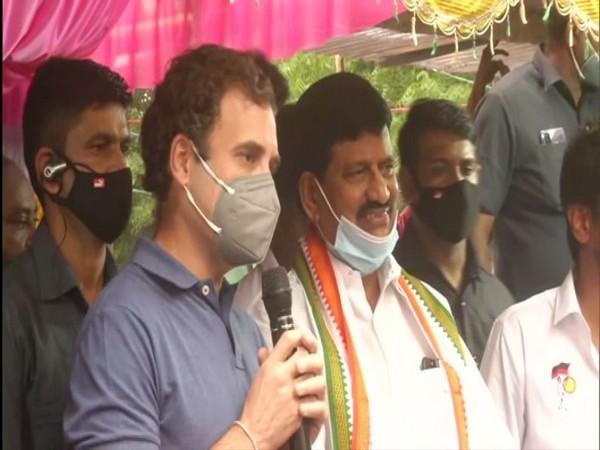 Congress leader Rahul Gandhi in Mumbai (Photo/ANI)