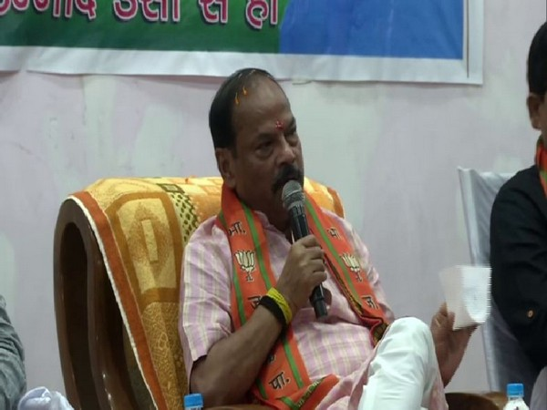 Jharkhand Chief Minister Raghubar Das in an event in Jamshedpur on Saturday. Photo/ANI