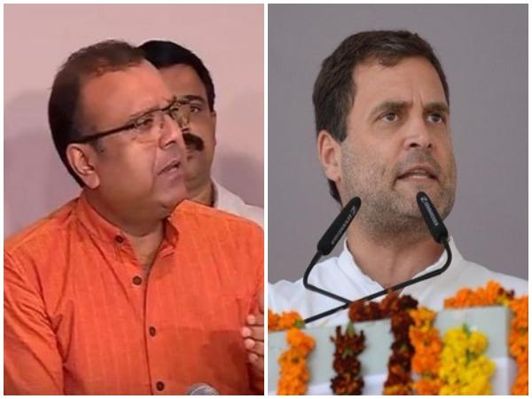 BDJS's chief Thushar Vellappally (left) and Congress president Rahul Gandhi (right)