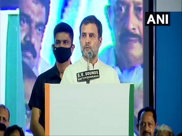 Congress leader Rahul Gandhi in Trivandrum (Photo/ANI)