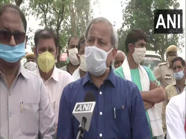 Rajasthan Minister Subhash Garg speaking to ANI in Bharatpur on Sunday.       Photo/ANI