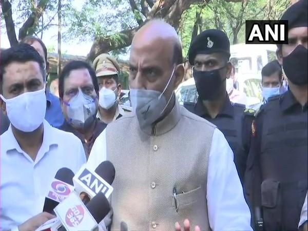Defence Minister Rajnath Singh speaking to media on Tuesday. (Photo/ANI)